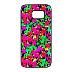 Colorful Leaves Samsung Galaxy S7 Edge Black Seamless Case by Costasonlineshop