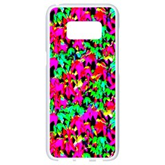 Colorful Leaves Samsung Galaxy S8 White Seamless Case