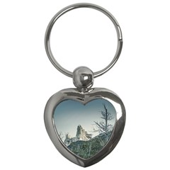 Fitz Roy Mountain, El Chalten Patagonia   Argentina Key Chains (heart)  by dflcprints