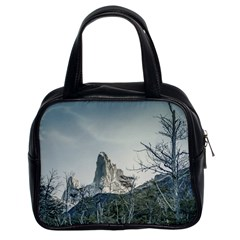 Fitz Roy Mountain, El Chalten Patagonia   Argentina Classic Handbags (2 Sides) by dflcprints