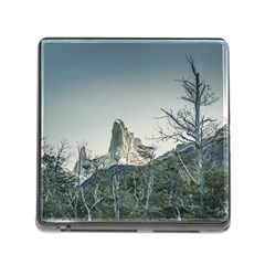 Fitz Roy Mountain, El Chalten Patagonia   Argentina Memory Card Reader (square) by dflcprints