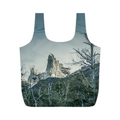 Fitz Roy Mountain, El Chalten Patagonia   Argentina Full Print Recycle Bags (m)  by dflcprints