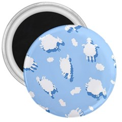 Vector Sheep Clouds Background 3  Magnets by Nexatart