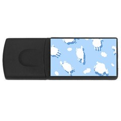 Vector Sheep Clouds Background Usb Flash Drive Rectangular (4 Gb)