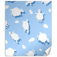 Vector Sheep Clouds Background Canvas 20  X 24