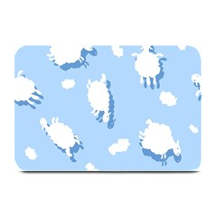 Vector Sheep Clouds Background Plate Mats by Nexatart