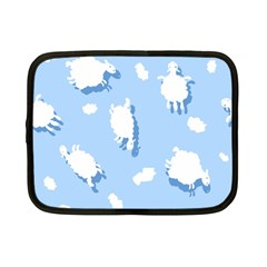 Vector Sheep Clouds Background Netbook Case (small)  by Nexatart