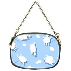 Vector Sheep Clouds Background Chain Purses (one Side)