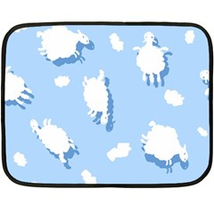 Vector Sheep Clouds Background Fleece Blanket (mini) by Nexatart