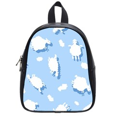 Vector Sheep Clouds Background School Bags (small)  by Nexatart