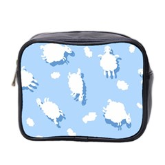 Vector Sheep Clouds Background Mini Toiletries Bag 2 Side by Nexatart