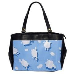 Vector Sheep Clouds Background Office Handbags