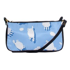 Vector Sheep Clouds Background Shoulder Clutch Bags by Nexatart