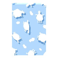 Vector Sheep Clouds Background Shower Curtain 48  X 72  (small)  by Nexatart