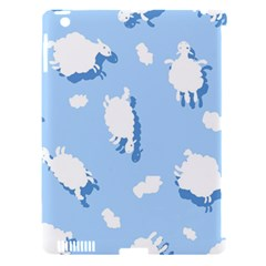Vector Sheep Clouds Background Apple Ipad 3/4 Hardshell Case (compatible With Smart Cover) by Nexatart