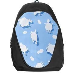 Vector Sheep Clouds Background Backpack Bag by Nexatart