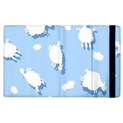 Vector Sheep Clouds Background Apple Ipad 2 Flip Case by Nexatart