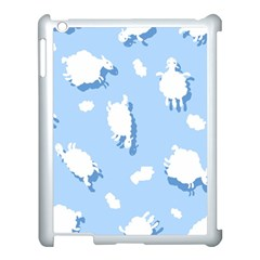 Vector Sheep Clouds Background Apple Ipad 3/4 Case (white)