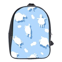 Vector Sheep Clouds Background School Bags (xl)