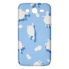 Vector Sheep Clouds Background Samsung Galaxy Mega 5 8 I9152 Hardshell Case  by Nexatart