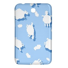Vector Sheep Clouds Background Samsung Galaxy Tab 3 (7 ) P3200 Hardshell Case