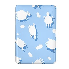 Vector Sheep Clouds Background Samsung Galaxy Tab 2 (10 1 ) P5100 Hardshell Case