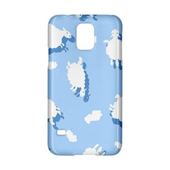 Vector Sheep Clouds Background Samsung Galaxy S5 Hardshell Case