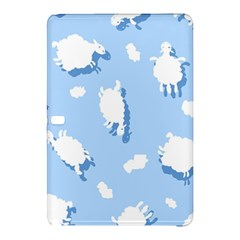 Vector Sheep Clouds Background Samsung Galaxy Tab Pro 10 1 Hardshell Case by Nexatart