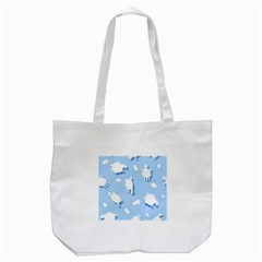 Vector Sheep Clouds Background Tote Bag (white) by Nexatart