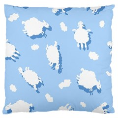 Vector Sheep Clouds Background Standard Flano Cushion Case (one Side)