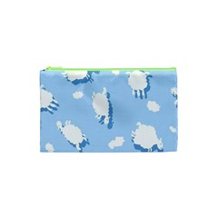 Vector Sheep Clouds Background Cosmetic Bag (xs) by Nexatart