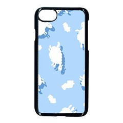 Vector Sheep Clouds Background Apple Iphone 7 Seamless Case (black) by Nexatart