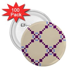 Pattern Background Vector Seamless 2 25  Buttons (100 Pack)  by Nexatart