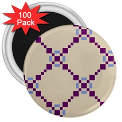 Pattern Background Vector Seamless 3  Magnets (100 Pack)
