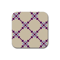 Pattern Background Vector Seamless Rubber Square Coaster (4 Pack)