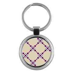 Pattern Background Vector Seamless Key Chains (round)