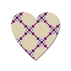 Pattern Background Vector Seamless Heart Magnet by Nexatart