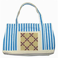 Pattern Background Vector Seamless Striped Blue Tote Bag by Nexatart