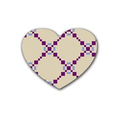 Pattern Background Vector Seamless Heart Coaster (4 Pack)
