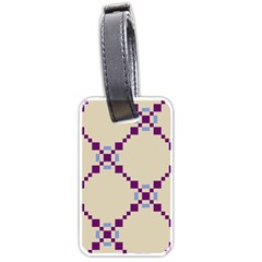 Pattern Background Vector Seamless Luggage Tags (two Sides) by Nexatart