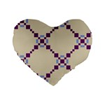 Pattern Background Vector Seamless Standard 16  Premium Flano Heart Shape Cushions Front