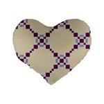 Pattern Background Vector Seamless Standard 16  Premium Flano Heart Shape Cushions Back