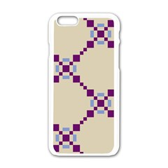 Pattern Background Vector Seamless Apple Iphone 6/6s White Enamel Case by Nexatart