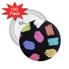 Many Colors Pattern Seamless 2 25  Buttons (100 Pack)
