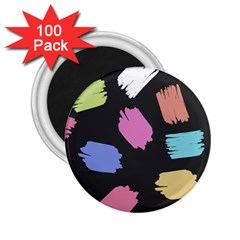 Many Colors Pattern Seamless 2 25  Magnets (100 Pack)  by Nexatart