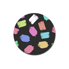 Many Colors Pattern Seamless Magnet 3  (round) by Nexatart