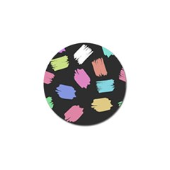 Many Colors Pattern Seamless Golf Ball Marker