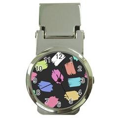 Many Colors Pattern Seamless Money Clip Watches by Nexatart