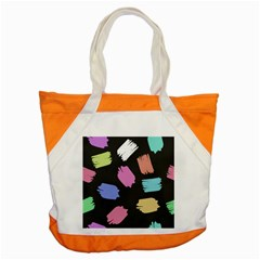 Many Colors Pattern Seamless Accent Tote Bag