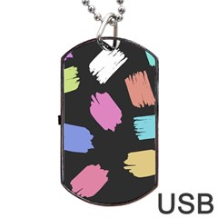 Many Colors Pattern Seamless Dog Tag Usb Flash (two Sides) by Nexatart